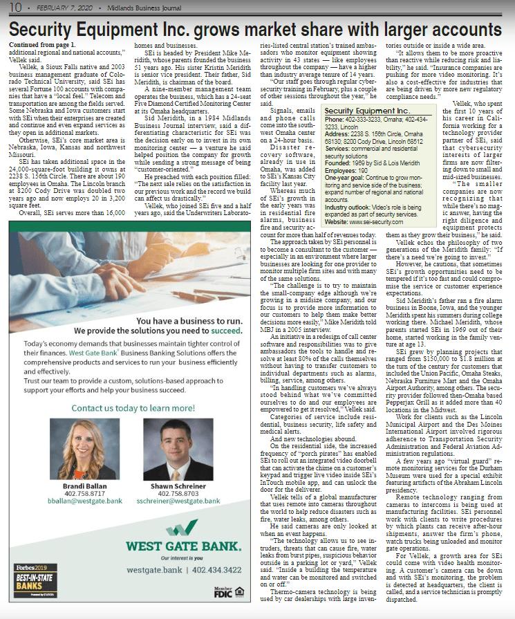 SEi Midlands Business Journal Feature