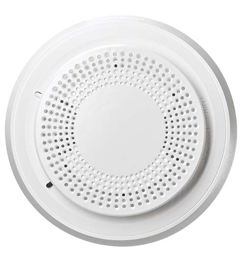 Smoke detector for monitored fire alarm